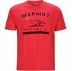 Marmot Mens Republic Tee Short Sleeve Red Heather