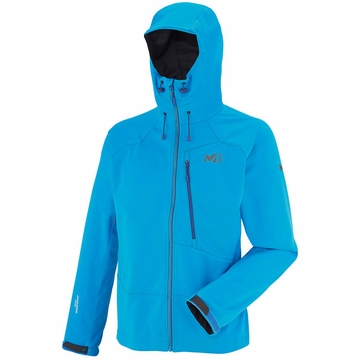 Millet Mens Alpinist Windstopper Hoodie Electric Blue