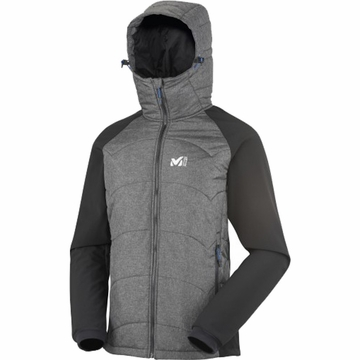Millet Mens Belay Hybrid Jacket Noir/ Heather Grey