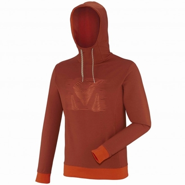 Millet Mens Black Eagle Hoodie Rust