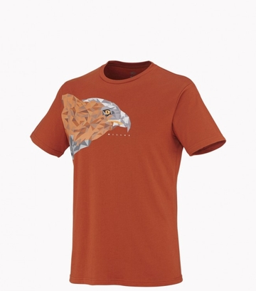 Millet Mens Black Eagle T-Shirt Short Sleeve Rust