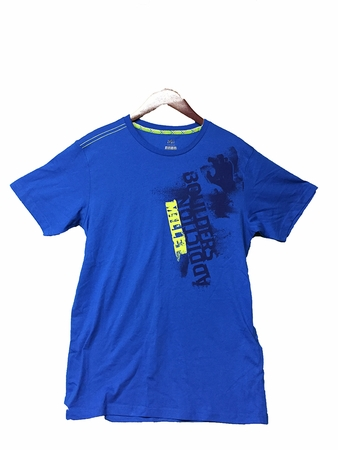 Millet Mens Boulder Addiction T Shirt Short Sleeve Sky Diver