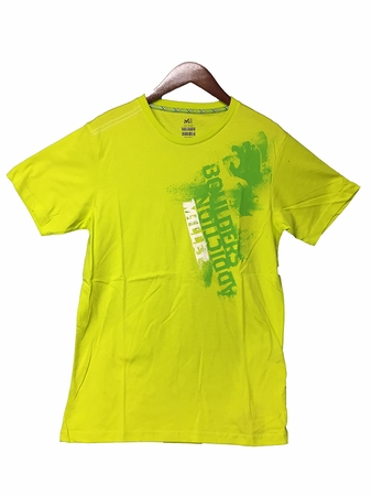 Millet Mens Boulder Addiction T Shirt Short Sleeve Sulphur