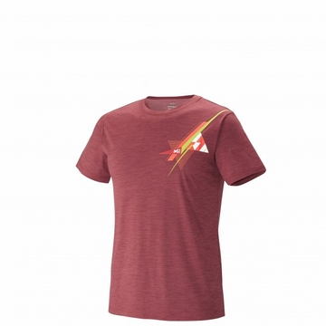 Millet Mens Cloud Peak T Shirt Short Sleeve Burgundy