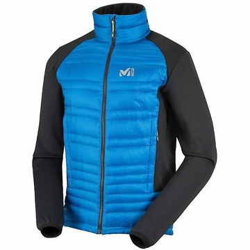 Millet Mens Hybrid Heel Lift Down Jacket Sky Diver/ Black