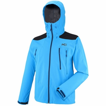 Millet Mens K Shield Hoodie Electric Blue