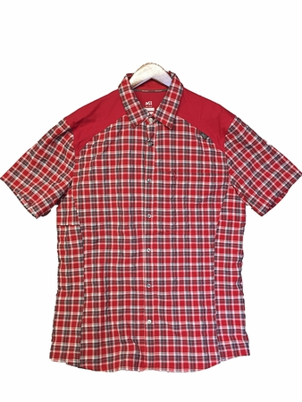 Millet Mens Ladakh Short Sleeve Shirt Deep Red