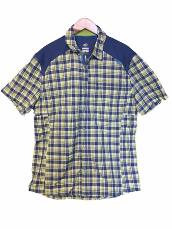 Millet Mens Ladakh Short Sleeve Shirt Majolica Blue