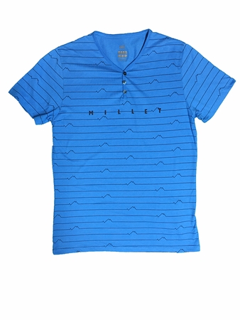 Millet Mens Myo T Shirt Short Sleeve Electric Blue