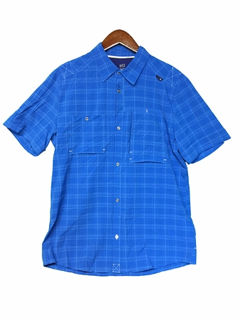 Millet Mens Pockharas Stretch Short Sleeve Shirt Sky Diver