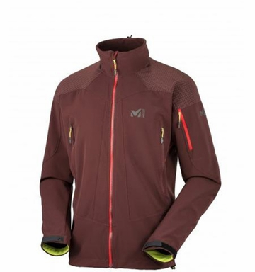 Millet Mens Roc + Ice Windstopper Jacket Wine
