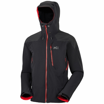 Millet Mens Roc+Ice Windstopper Hoodie Black/ Noir