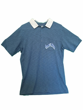 Millet Mens Stone Polo Majolica Blue