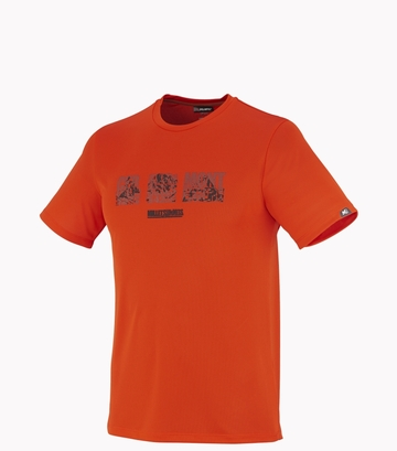 Millet Mens Summit T Shirt SS Bright Orange