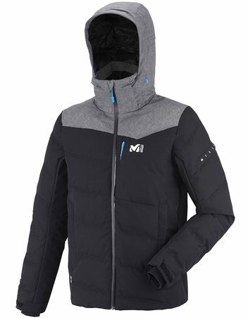 Millet Mens Sun Peaks Hybrid Jacket Noir/ Heather Grey