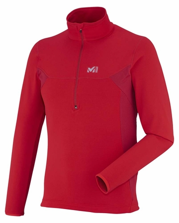 Millet Mens Tech Stretch Light Pullover Rouge/ Deep Red