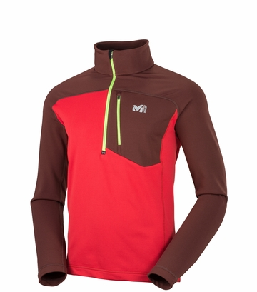 Millet Mens Technostretch Zip Rouge/ Wine