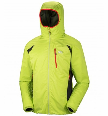 Millet Mens Touring Alpha Hoodie Acid Green/ Noir