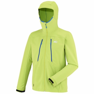 Millet Mens Touring Shield Hoodie Acid Green (Close Out)