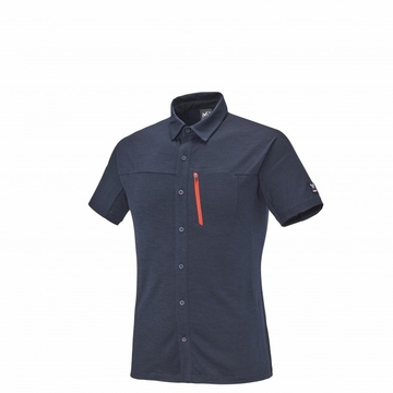 Millet Mens Trilogy Wool Short Sleeve Shirt Saphir