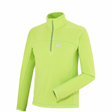Millet Mens Vector Grid Pullover Acid Green