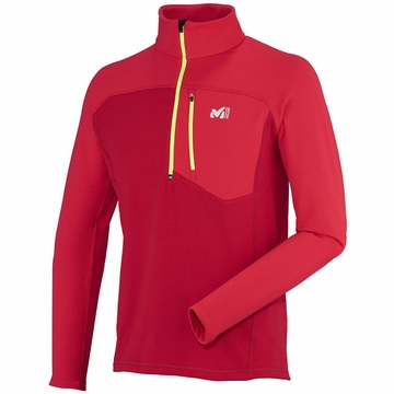 Millet Mens Technostretch Zip Deep Red/ Rouge