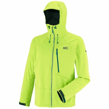 Millet Mens Alpinist Windstopper Hoodie Acid Green