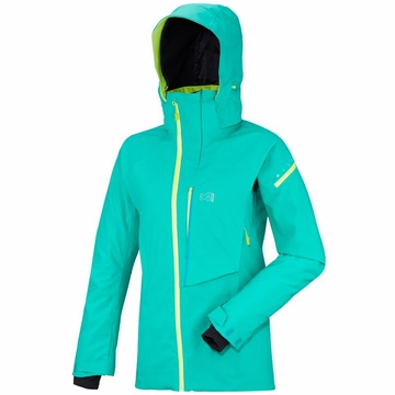 Millet Womens Big White Stretch Jacket Dynasty Green