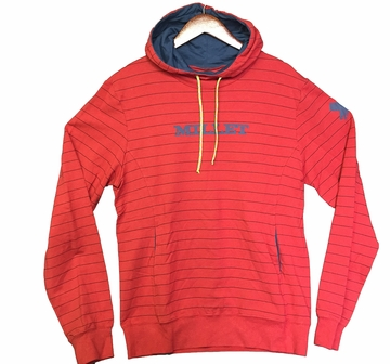 Millet Mens Black Shadow Hoodie Pompeian Red