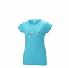 Millet Womens Blanca Peak Wool T Shirt Short Sleeve Blue Bird