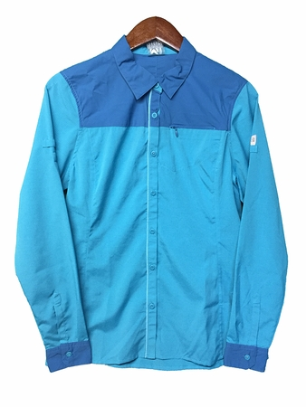 Millet Womens Clark Peak Long Sleeve Shirt Blue Bird/ Deep Horizon