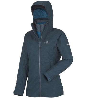 Millet Womens Cross Mountain 3 in 1 Jacket Heather Blue
