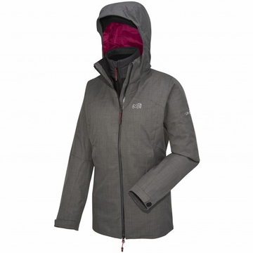 Millet Womens Cross Mountain 3 in 1 Jacket Heather Grey