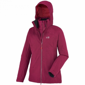 Millet Womens Cross Mountain 3 in 1 Jacket Heather Velvet (Close Out)