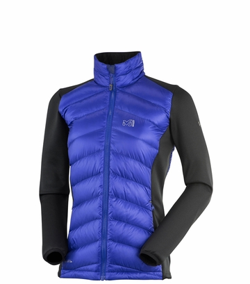 Millet Womens Hybrid Heel Lift Down Jacket Purple Blue/ Noir