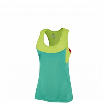 Millet Womens Intense Tank Dynasty Green/ Acid Green