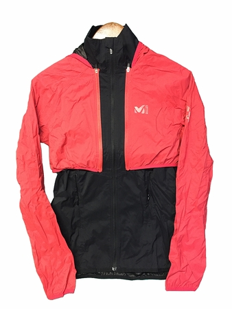 Millet Womens LTK React Shield Jacket Noir/ Hibiscus