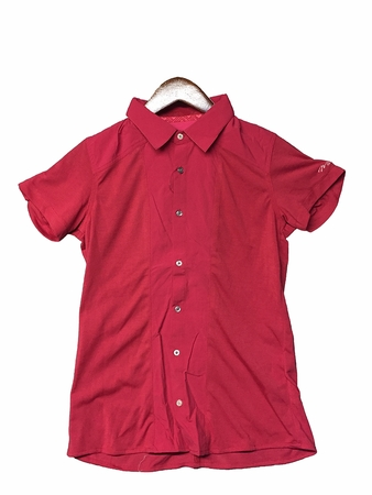 Millet Womens Parvati Stretch Short Sleeve Shirt Rouge Carmin