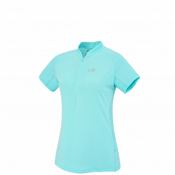 Millet Womens Sunny Alpi Zip Short Sleeve Shirt Curacao (Close Out)
