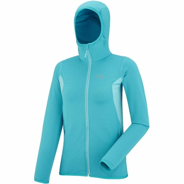 Millet Womens Tech Light Hoodie Blue Bird/ Curacao