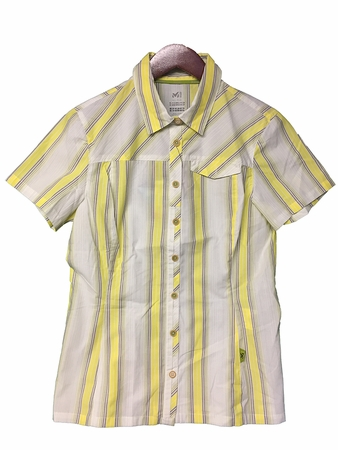 Millet Womens Thamel Short Sleeve Shirt Yellow/ Linden Green (Close Out)