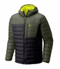 Mountain Hardwear Men Dynotherm Down Hooded Jacket Black/ Surplus Green