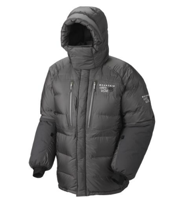 Mountain Hardwear Mens Absolute Zero Parka Shark/ Black (Close out)