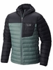 Mountain Hardwear Mens Dynotherm Down Hooded Jacket Thunderhead Grey/ Black