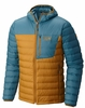Mountain Hardwear Mens Dynotherm Down Hooded Jacket Underbrush/ Cloudburst