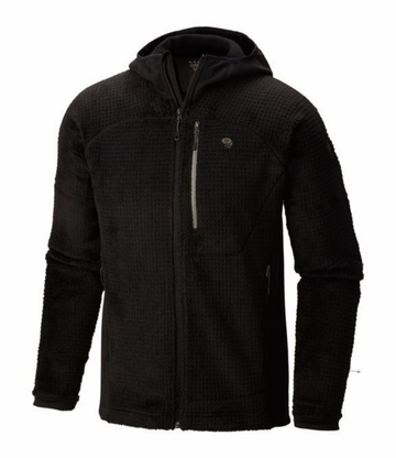 Mountain Hardwear Mens Monkey Man Grid 2 Hooded Jacket Black