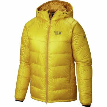 Mountain Hardwear Mens Phantom Hooded Down Jacket Electron Yellow (Close Out)