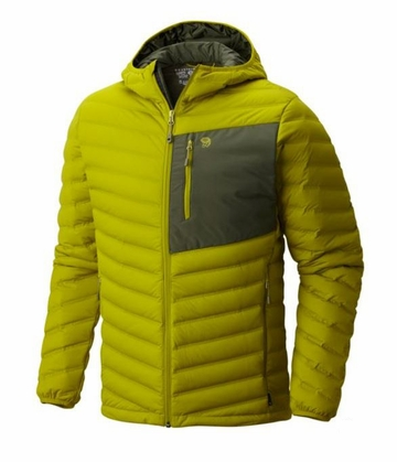Mountain Hardwear Mens Stretchdown Hooded Jacket Python Green