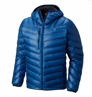 Mountain Hardwear Mens Stretchdown RS Hooded Jacket Nightfall Blue