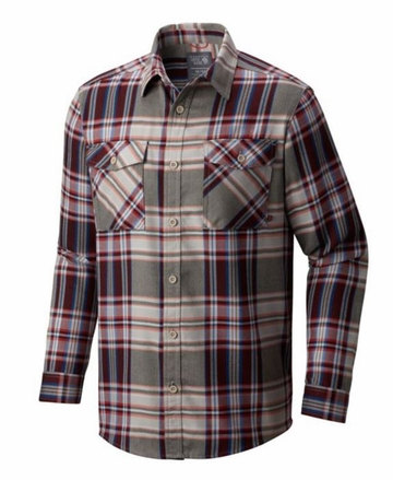 Mountain Hardwear Mens Trekkin Flannel Long Sleeve Shirt Cote Du Rhone